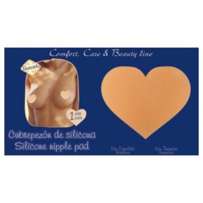 Cubrepezon de silicona forma de corazon