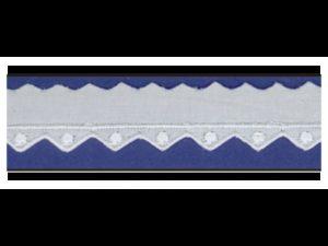 Tira bordada blanca