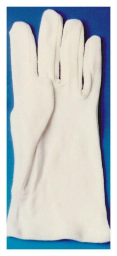 Guantes de algodón blancos